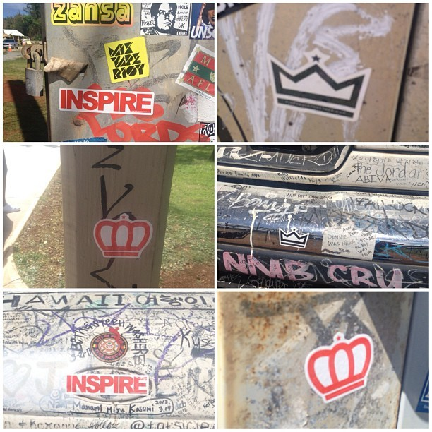 #KRTstickers all over Hawaii. #stickers #crowns #inspire #king #queen #honolulu #northshore #Hawaii #Waikiki #kingsruletogether #KRT   (at Hawai'i Convention Center)