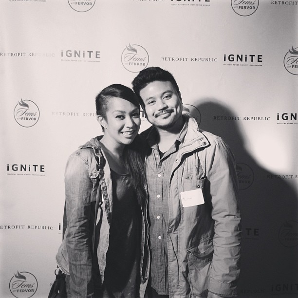 With the lady @cherrymj at @igniteca party at Roe