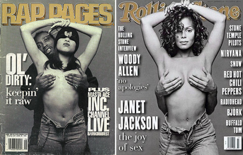 lcrw:  RapPages (1995) by B+ vs Rolling Stone (1993) by Patrick Demarchelier