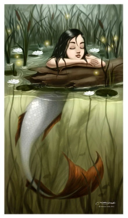 everydayamermaid:  River Mermaid by melaniey