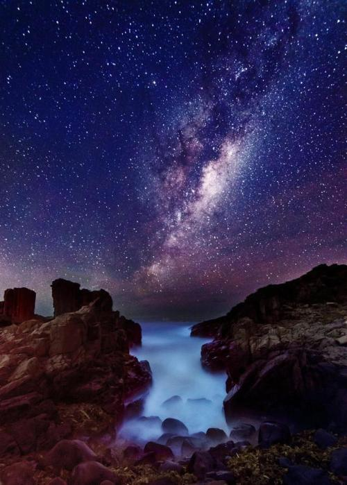 magicalnaturetour:  Milky Way on the Ground  by Wolongshan