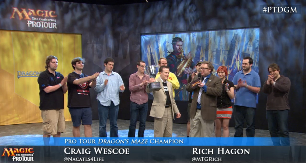 Congratulations to Craig Wescoe for winning Pro Tour Dragon's Maze!