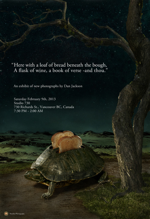 "Turtle Toaster poster. From my upcoming exhibit ""A loaf of bread, a flask of wine, a book of verse -and thou."""