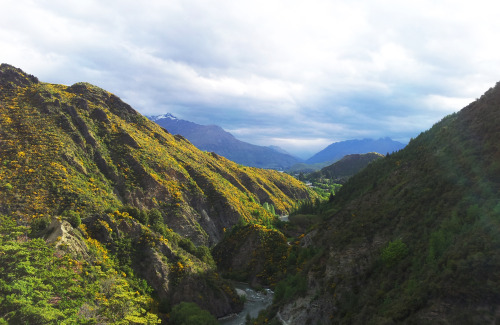 Hiking near Arrowtown, New Zealand  Note to image makers: The light in the Southern Hemisphere is exceptionally bright, which makes shooting here a challenge. If I need an image to look half way decent I have to go out around sunrise or sunset on a really clear day. This shot was taken under poor conditions, but the hiking was some of my favorite in NZ so far.