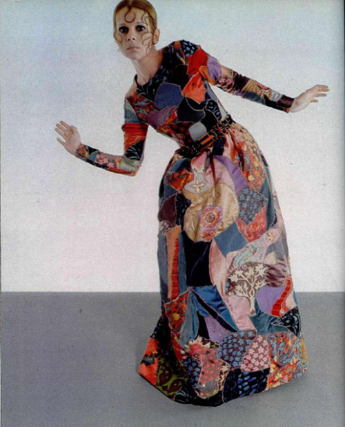 teenjetset:  YVES SAINT LAURENT PATCHWORK DRESS  1969