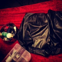 Finally finished my shorts for tomorrow. #diy #fashion #style #fauxleather #black #fall2012 #diyfashion #thrifted #fyourstyle #plussize