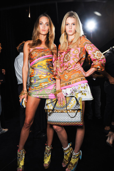 d-aisychain:  mulberry-cookies:  Karmen & Sigrid Backstage @ D&G S/S 2012  sigrid is flawless