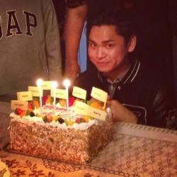 I cropped all the other celebrants out oops. Happy birthday to #me #waitisthatobnoxious? #bigbang
