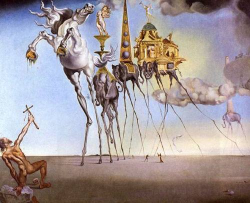 patrickmasturbatesman:  Temptation of Saint Anthony Salvador Dali