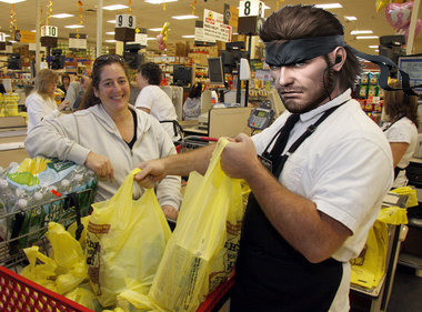 thatnortnicguy:  Big Boss starts working at a supermarket. He is now Bag Boss.