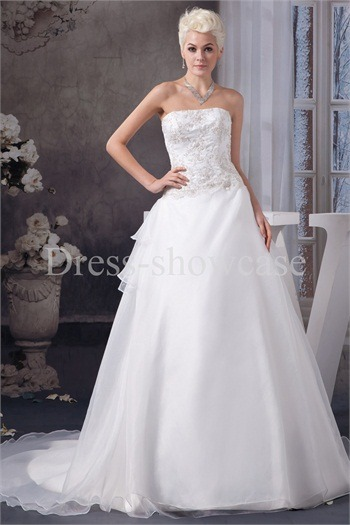 Sleeveless Garden Satin Corset-back Wedding Dress http://www.Dress-ShowCase.com/Sleeveless-Garden-Satin-Corset-back-Wedding-Dress-p20964.htmlView Post