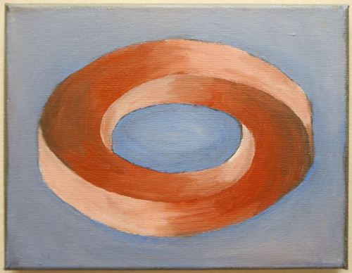 "new paintings 2013 ""Möbius Strip"" 6x8"""