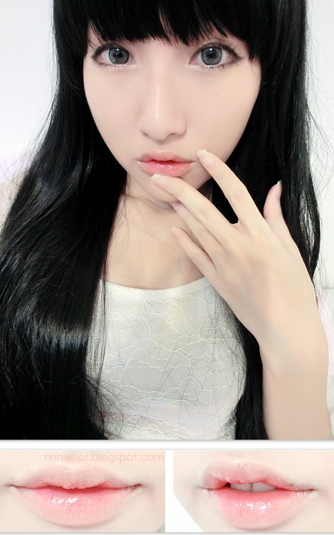 truebluemeandyou:  DIY Korean Ulzzang Gradient Lips Makeup Tutorial from Rinnie Riot here. Really easy step by step tutorial to achieve this look.
