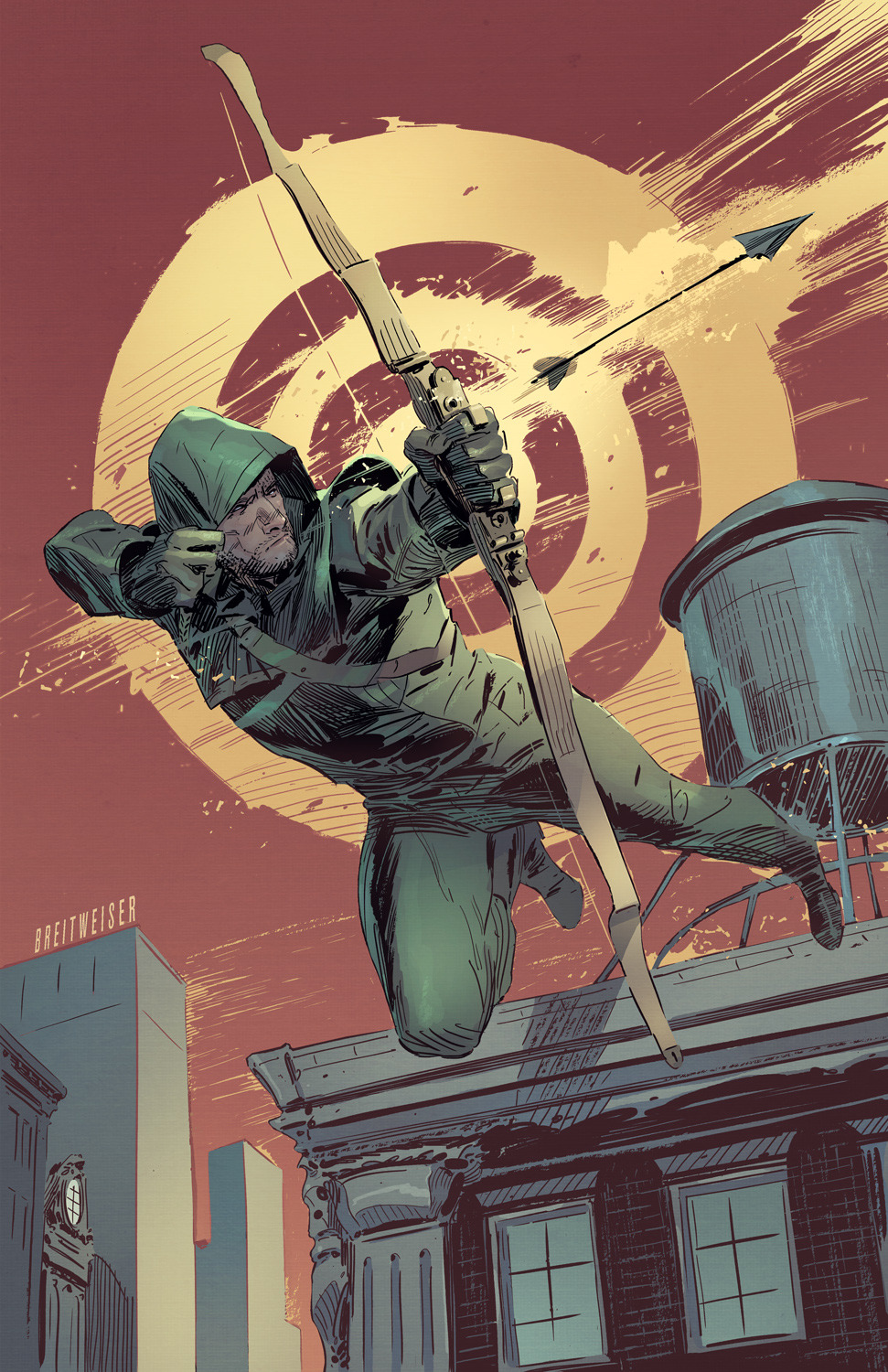 A Green Arrow cover we did for DC Comics Recently