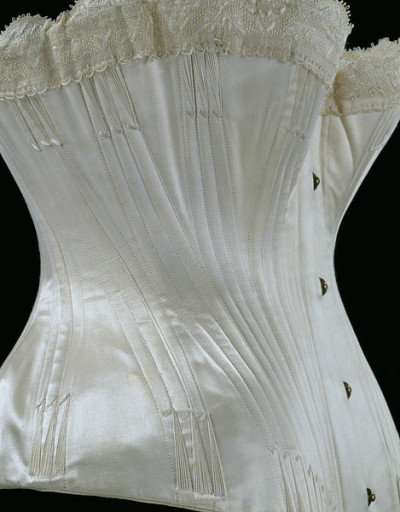 Wedding corset, V&A, 1887  After making corsets myself, this level of workmanship and skill blows my mind.