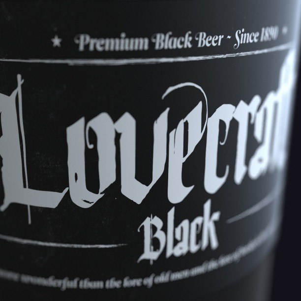 Lovecraft Beer #render #3d #cg #art #digital #photoshop #design #lovecraft