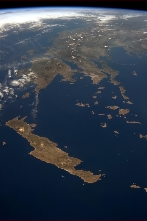 colchrishadfield:  The Greek islands, like delicate shattered eggshell pieces.
