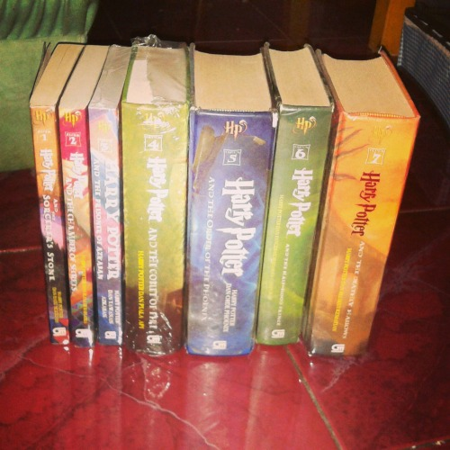Finally!!! Completed Harry Potter series ! Yeay!!! – View on Path.