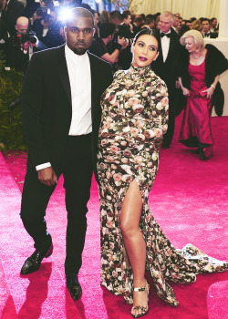 Kim Kardashian & Kanye West at the 2013 Met Gala held at the Metropolitan Museum of Art in New York City-05/06/13