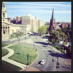 View from the Donovan House this morning.  (at Donovan House Rooftop)