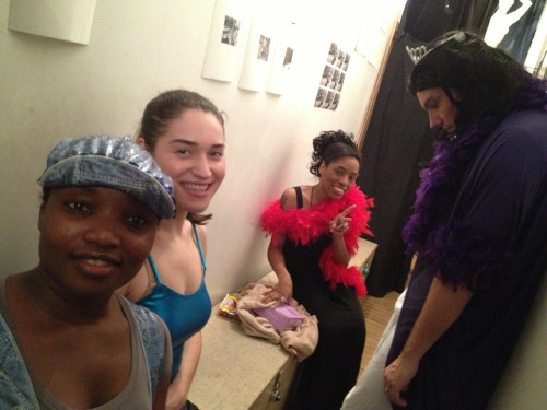 The incredible cast of Glamazon backstage at Joria Productions. 1.19.13