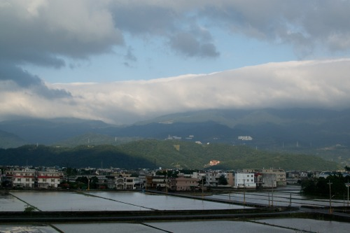 Rice Paddies meets City meets Mountains meets Clouds ~Sam Go~