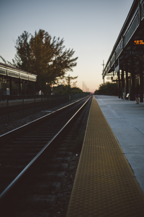 blank-1517:  Deerfield Beach station at dawn.