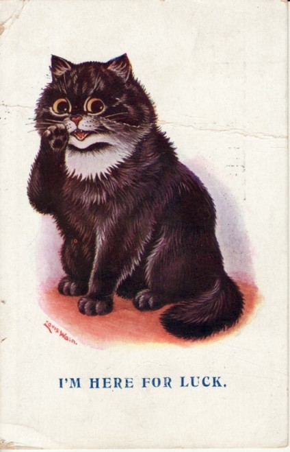 minireal:  vampirevoodoo:  louis wain, you wonderful wonderful man  For who, evil kitty? For who?