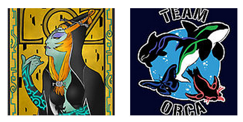Redbubble is currently having a 15% sale on anything and everything if you use the promocode GET15. Now may be a good time to pick up a Midna in Mucha or a Team Orca shirt, yes? (noticed while utilizing the sale myself that I had to check out through Redbubble in order to enter the code, andthen I could choose to pay with paypal, in case anyone else runs into that. )