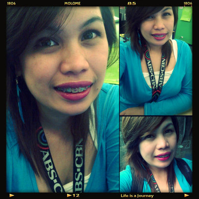 wearing blue coz my heart is blue (Photo taken and uploaded via MOLOME )