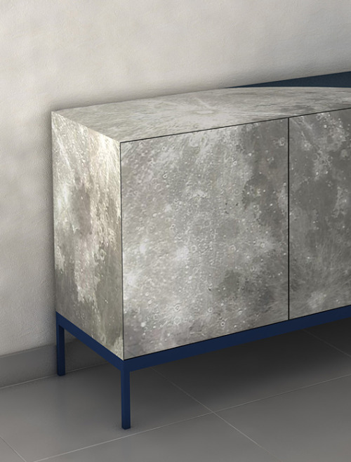 "The ""Full Moon"" sideboard is a stunning piece of furniture created by designer Sotirios Papadopoulos and produced by EnneZero. The ""moon"" on the furniture's surface is a special luminous and ecological paint (ELI ecolightinside), which creates special effects in the dark. Full Moon Sideboard by http://www.sotiriospapadopoulos.net/"