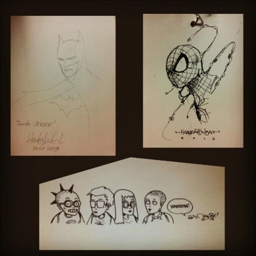 AWESOME sketches from different comic artists #kikomachine #spiderman #batman