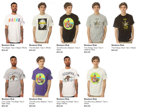 The Smokers Club x Karmaloop.com. Shop the latest collection for the official tees