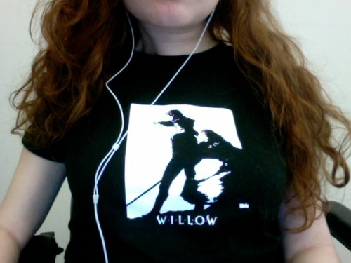 I'm wearing my new Willow shirt today. Thanks @WonderAli!! <3