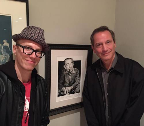 Showing @classicshowbiz my original Drew Friedman's...