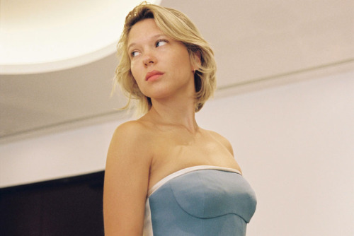 Léa Seydoux getting ready for the Grand Central Premiere at the 66th Annual Cannes Film Festival (May 18th, 2013)