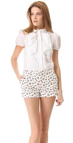 red valentino bow blouse white blouse stylish blouse pretty blouse