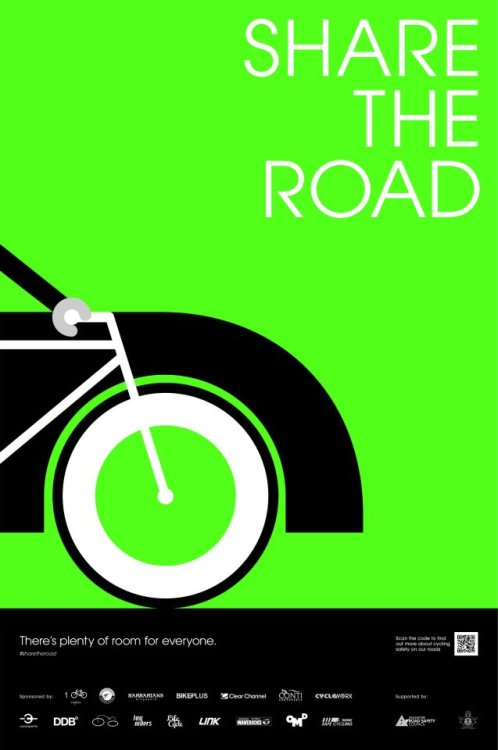 'Share the Road' campaign. Email at info@life-cycle.co for the hi-res posters.