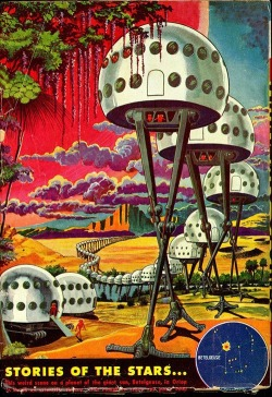 ronbeckdesigns:  Stories of the Stars ( retro futurism - vintage future / space home / future house / retro illustration / book cover / vintage science fiction / retro sci fi)