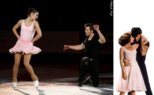 Stefania Berton and Ondrej Hotarek skating to (I've Had) The Time of My Life in the 2012 Skate Canada gala.