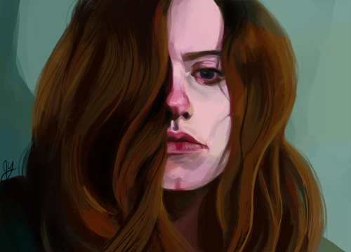 jenasaisquoi:  I haven't done a self portrait in a long time…
