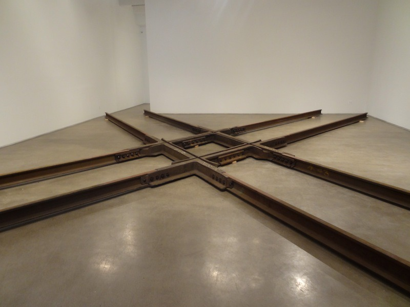 "Marianne Vitale's ""Diamond Crossing"" installation at Zach Feuer (through June 15)."