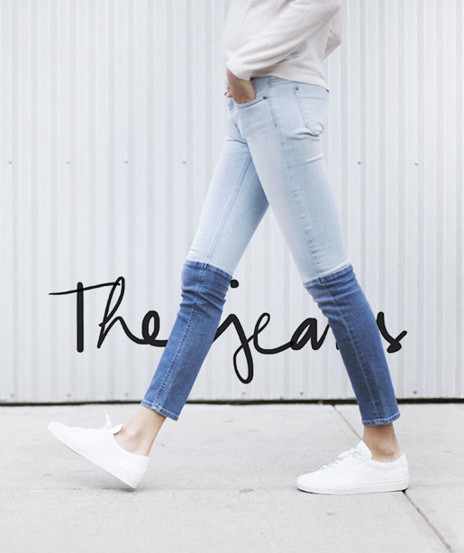 D.I.Y. Inspiration  You can find the jeans here  (image: garancedore)
