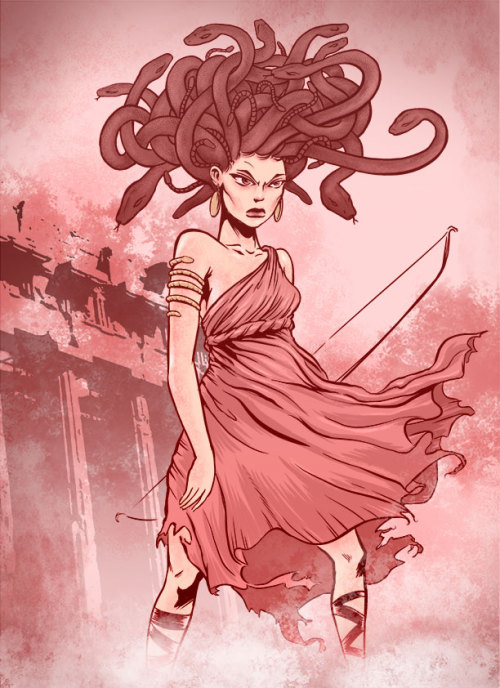 Medusa.  Messing around with some new brushes.