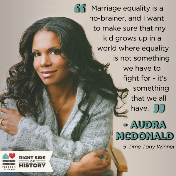 Audra McDonald is releasing a new solo album this month - and Nonesuch Records will donate $1 from every pre-order to Freedom to Marry if you enter promo code 'FREEDOM' at checkout! Pre-order today: http://bit.ly/1434kQx