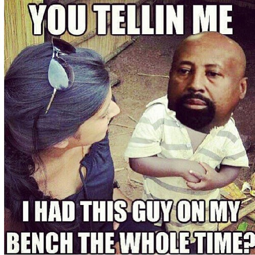 Lmao, Copeland had that spark! #TinyMikeWoodson #knickstape #believe #ImAnAnnoyingSportsFanSoFuckYou (at the knicks bench)