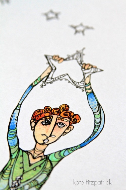 WIP: Peter Pan (Turning an old moleskin doodle into a full color illustration.)