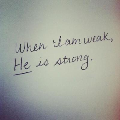 spiritualinspiration:  No matter what weakness you think you may have, no matter what inadequacies or setbacks you've encountered, God wants to give you His divine strength. He wants to make up the difference and put you further ahead than you ever thought possible.