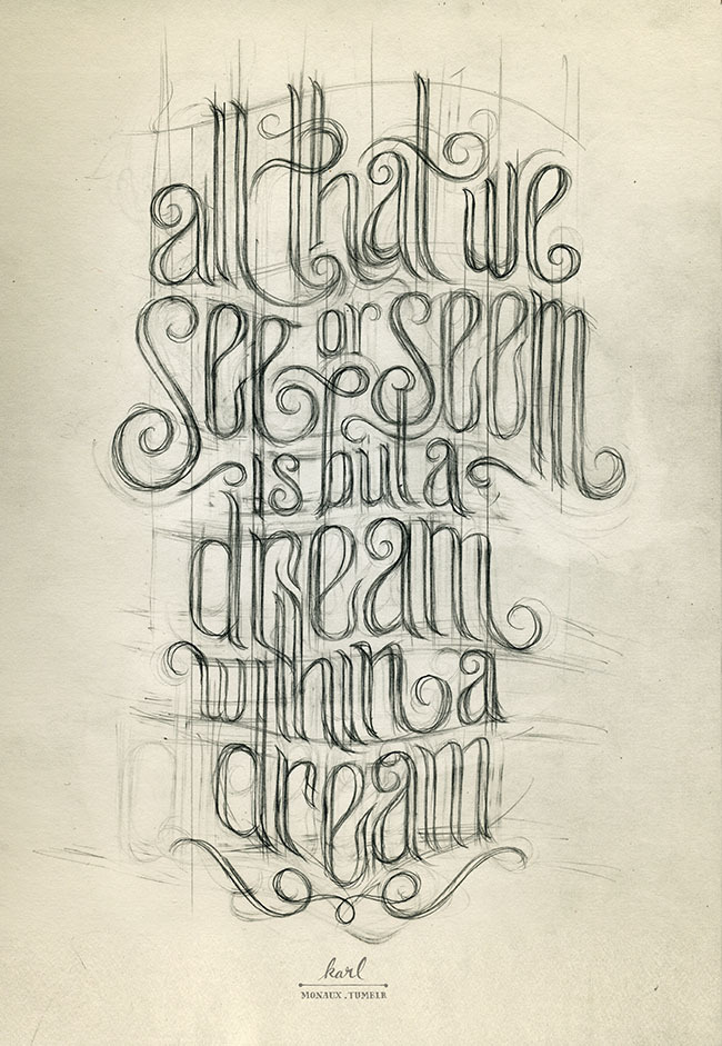 beautifultype:  Really nice drawing from monaux  Beautiful!!