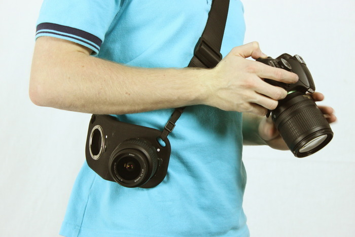 Such a good idea! This Lens Holster is pretty self-explanatory. It's a wearable holster that comes with built-in threads, so you can screw your lenses into it when you're not using them. It's being made for Nikon only right now and is on Kickstarter (link below!). A Holster to Hold Your Lenses for You via PetaPixel